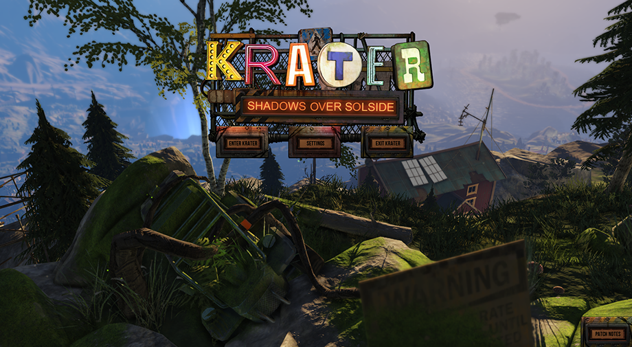 Krater Home Screen